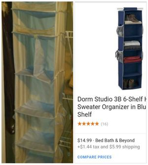 Hanging 6 shelf closet organizer w/8 shoe slots for Sale in Egg Harbor City, NJ