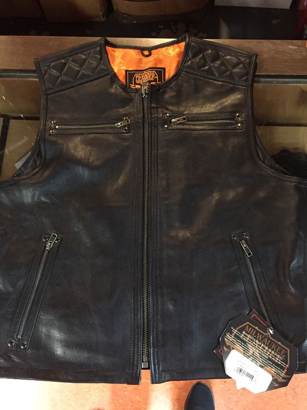 New motorcycle leather vest $100