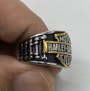 Stainless Steel Mens Motorcycle Club Biker Harley Davidson Ring Size 8 for Sale in Queens, NY