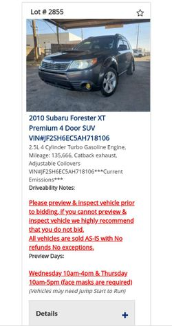 2010 Subaru Forester for Sale in Tolleson,  AZ