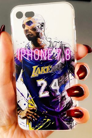 New iphone 7 or iphone 8 case rubber Kobe Bryant Lakers for Sale in San Bernardino, CA