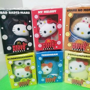 Sanrio HELLO KITTY Bubbly Bad Badtz-Maru My Melody Osaru Monkichi Kerokerokeroppi Tuxedosam Pompompurin Plush ☆5 × FREE Hello Kitty for Sale in La Puente, CA
