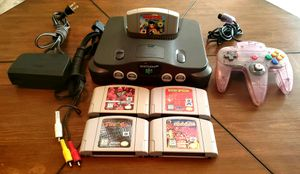 Complete Nintendo N64 System Bundle w/5 Games Donkey Kong Racing + Controller TESTED for Sale in Murrieta, CA