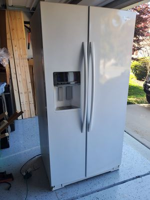 Whirlpool white side by side refrigerator for Sale in Charlotte, NC