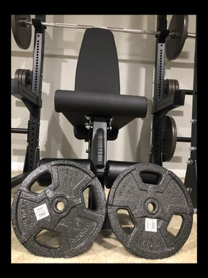 """Brand new in box never opened pair (2) 25 lb weight plates set 1"""" standard (please read entire post) for Sale in Chula Vista, CA"""