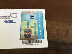 """Metra Zone """"E"""" (Arlington Heights to Ogilvie) Ten Ride tickets for Sale in Arlington Heights, IL"""