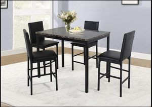 Faux Marble Counter Height Table And Chairs D394 for Sale in St. Louis, MO