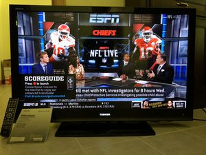 MOVING SALE: Toshiba Regza 46 inch HDTV LCD with remote and stand for Sale in Smyrna, TN