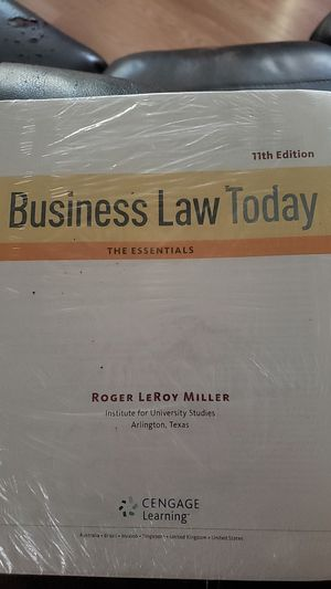 Business law today the essentials 11th edition college text book for Sale in Pasadena, TX