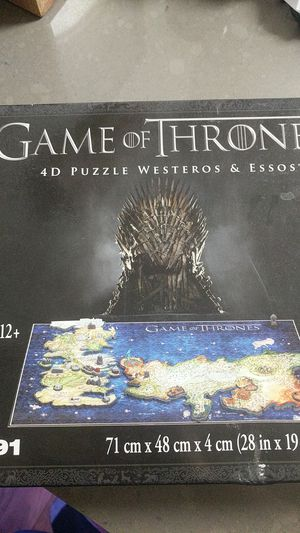Game of thrones puzzle 891 pieces for Sale in Foster City, CA