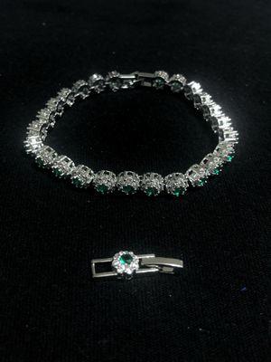 Sterling Silver / Green CZ Bracelet for Sale in Las Vegas, NV