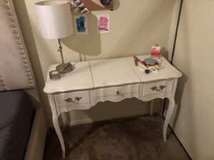 Vintage Vanity/Desk with Mirror for Sale in Los Angeles, CA