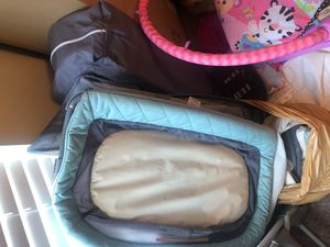 Grace play pen with changing table/bassinette for Sale in Ellenwood, GA
