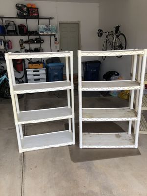 Free plastic shelves for Sale in Oswego, IL