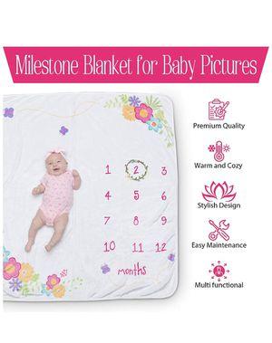Baby Milestone Blankets for Girls w/ free Flower Wreath for Sale in Dallas, TX