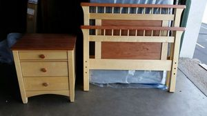 Brand New Twin Birch & Cherry Bed and Nightstand for Sale in Denver, CO