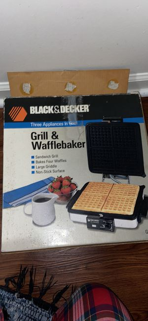 Black&Decker Waffle and Grill set for Sale in Virginia Beach, VA