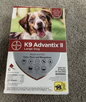 3 month supply K9 Advantix II for Sale in Elizabethtown, PA