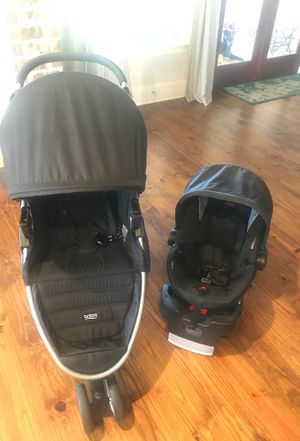 Britax stroller, car seat with base for Sale in Madison, MS