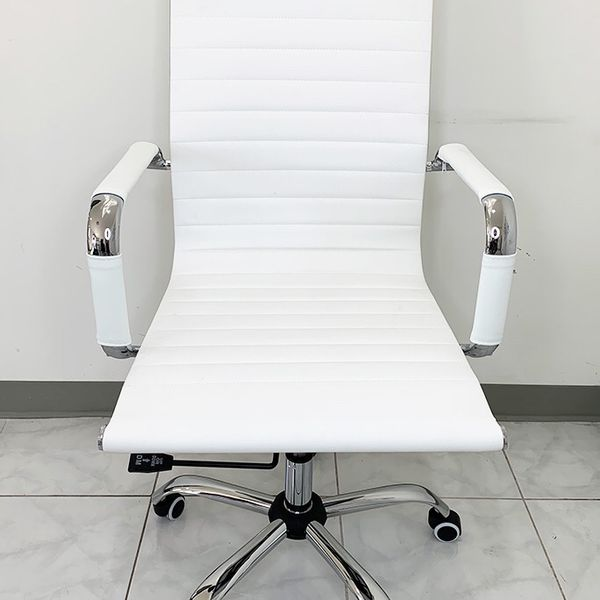 New $85 Modern Computer Office Chair Mid Back Recline Adjustable Seat PU Leather