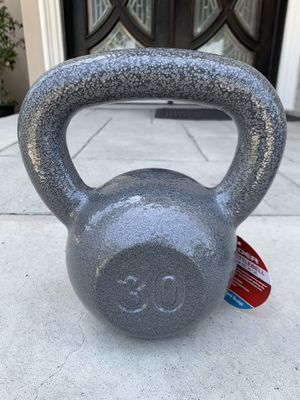Brand new 30lb kettlebell gym workout exercise weights equipment for Sale in Whittier, CA
