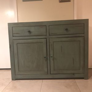 Aesthetically pleasing dresser / storage cabinet strong and sturdy made of wood two drawers and four shelves for Sale in Miami, FL