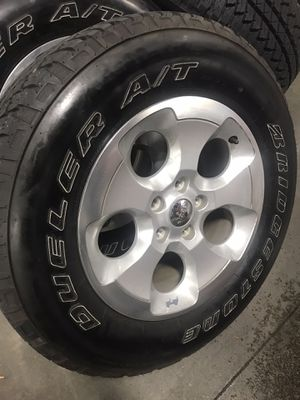 5 Tires & Wheels off 2013 Jeep Wrangler for Sale in Aurora, CO