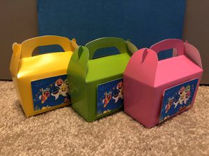 Baby Shark Birthday Baby Shower Favor Boxes $2 per box for Sale in Clarksburg, MD