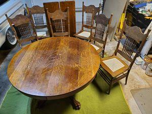 Antique Oak Dining Table for Sale in Clovis, CA