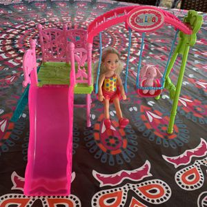 Barbie Chelsea Swing Set with bunny for Sale in Fresno, CA