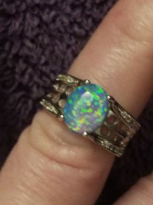Beautiful 925 stamped blue opal ring. Size 6. for Sale in Salt Lake City, UT