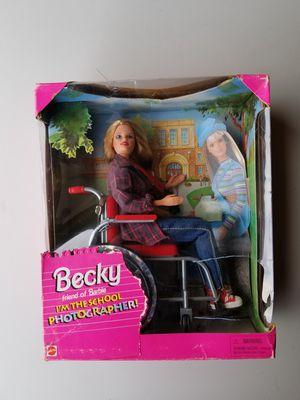 Becky friend of Barbie school photographer ( broken box but new ) for Sale in Pomona, CA