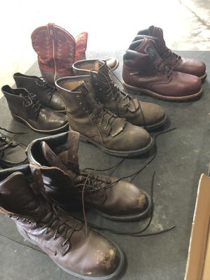 Men's work boots size 12D all name brand great shape for Sale in Saint Charles, MO