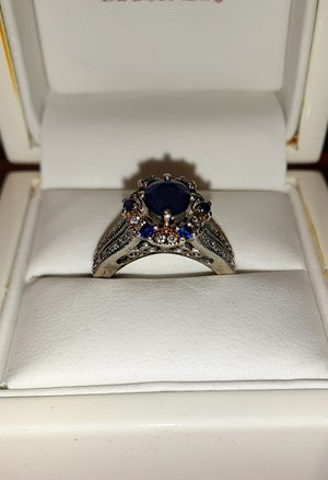 Natural Blue Sapphire and Diamond Ring for Sale in St. Louis, MO
