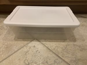 Sterilite clear container with white lid for Sale in Phoenix, AZ