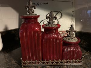 Red Glass Canisters for Sale in Springfield, VA