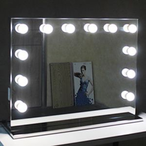 """New in box $220 Vanity Mirror w/ 14 Dimmable LED Light Bulbs, Hollywood Beauty Makeup Power Outlet 32x26"""" for Sale in Whittier, CA"""