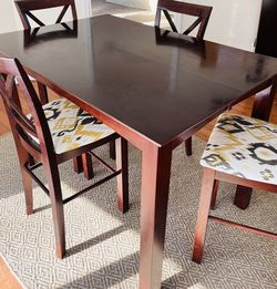 Hamilton & Spill Tall Dining Table Set with 6 Chairs + Leaf for Sale in Canton,  MI