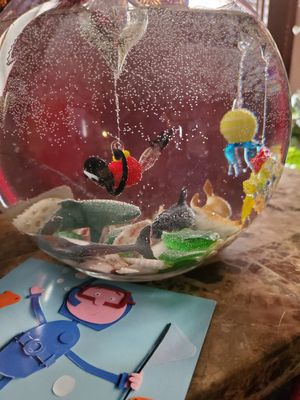 Artificial GLASS floating fish tank for Sale in Braintree, MA