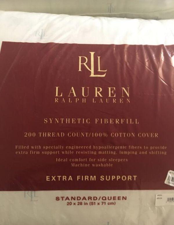 Two Ralph Lauren pillows
