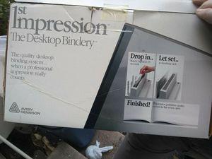 1st Impressions desktop bindery new in box for Sale in Medford, OR