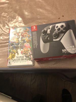 Nintendo Swich combo special Edition Super Smash Bros Game and controller special edition. Brand new for Sale in Hapeville, GA