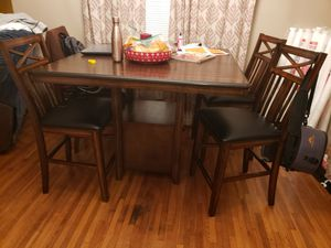 Dining table with storage and 4 chairs for Sale in Memphis, TN