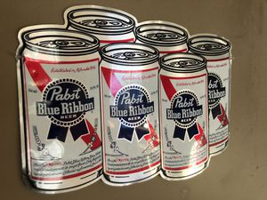 PBR 6 Pack sign - Pabst Blue Ribbon for Sale in Missoula, MT