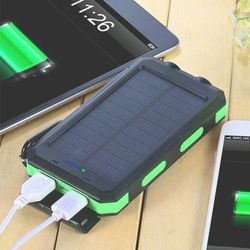 Brand New Solar Charger, 20000mAh Solar Power Bank Portable Charger for Camping External Battery Backup Charger with Dual 2 USB Port/LED Flashlights for Sale in Newport Beach,  CA