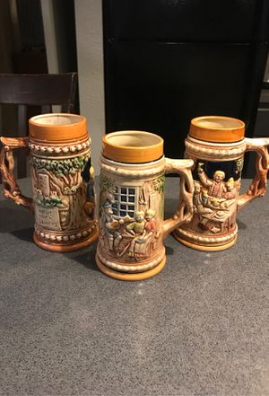 Three 7 inches tall steins for Sale in Austin, TX