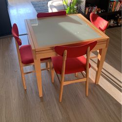 Design Within Reach Extendable Dining Table and Chair Set for Sale in Anaheim,  CA
