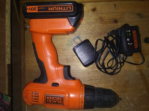Drill w/charger and extra battery for Sale in Odenville, AL