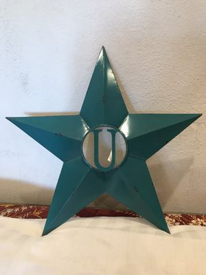 Star wall decor with Initial U for Sale in Riverside, CA