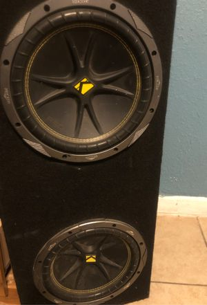 """Two 10"""" Kicker c10 subwoofers with box for Sale in San Bernardino, CA"""